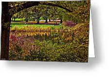 Central Park In Autumn - Nyc Greeting Card