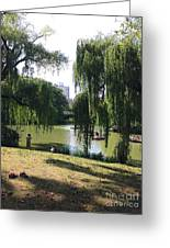 Central Park In The Summer Greeting Card