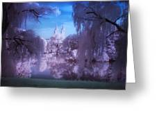 Central Park Lake Willows Color Greeting Card