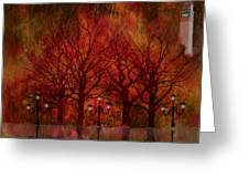 Central Park Ny - Featured Artwork Greeting Card