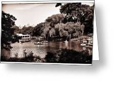 Central Park Rowing - New York City Greeting Card