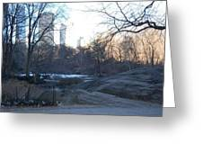 Central Park Winter Skyline Greeting Card