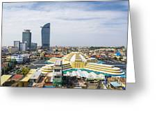 Central Phnom Penh In Cambodia Greeting Card