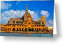 Central Railroad Of New Jersey Terminal Greeting Card