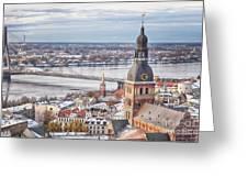 Central Riga Greeting Card