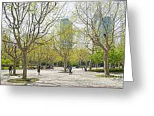 Central Shanghai Park In China Greeting Card