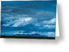 Central Valley Clouds Greeting Card