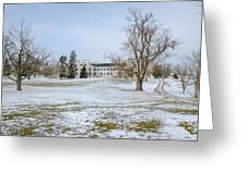 Centre Family Dwelling - Shaker Village Greeting Card