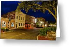 Centre Street Downtown Fernandina Florida Greeting Card