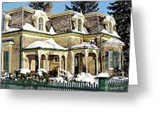Century Home In Winter Greeting Card