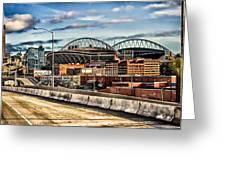 Century Link Field Seattle Washington Greeting Card