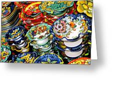Ceramics Of Vietri Sul Mare  Greeting Card