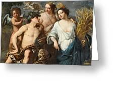 Ceres Bacchus And Venus Greeting Card
