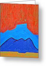 Cerro Pedernal Original Painting Sold Greeting Card