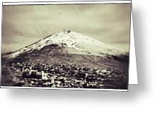 Cerro Rico Potosi Black And White Vintage Greeting Card