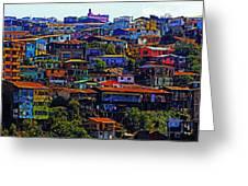 Cerro Valparaiso Greeting Card