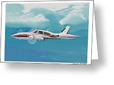 Cessna 310 Twin Engine Greeting Card
