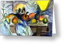 Cezanne Still Life With Skull Greeting Card