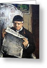 Cezanne's Father Reading Le Evenement Greeting Card