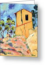 Cezanne's House With Cracked Walls Greeting Card