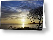 cf 519 A Sunset Over Monterey Bay Greeting Card