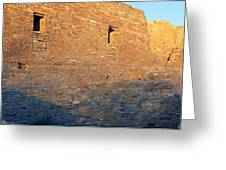 Chaco Canyon Indian Ruins, Sunset, New Greeting Card