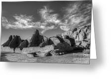 Chaco Canyon Pueblo Bonito Greeting Card