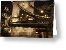 Chain Bridge Close-up Greeting Card