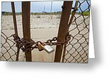 Chained And Padlocked Gate Greeting Card