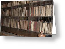 Chained Library At Hereford Cathedral Greeting Card
