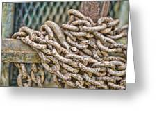 Chained Up Greeting Card