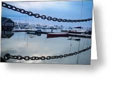 Chains Over The Water Greeting Card