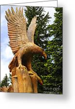 Chainsaw Carved Eagle Greeting Card
