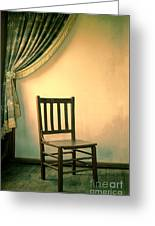 Chair And Curtain Greeting Card