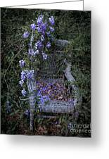 Chair And Flowers Greeting Card
