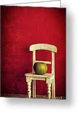 Chair Apple Red Still Life Greeting Card