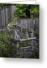 Chair In The Garden Greeting Card