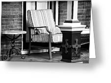 Chair On The Porch Greeting Card