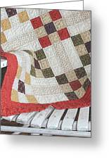 Chair Quilt               Color Pencil Greeting Card