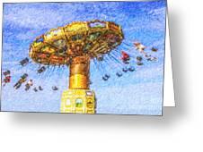 Chairoplane Waveswinger Greeting Card