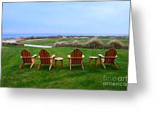 Chairs At The Eighteenth Hole Greeting Card