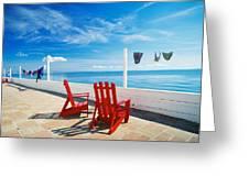 Chairs Cape Cod Ma Greeting Card