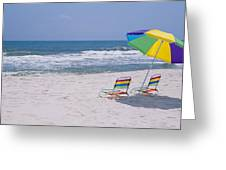 Chairs On The Beach, Gulf Of Mexico Greeting Card