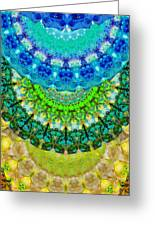 Chakra Mandala Healing Art By Sharon Cummings Greeting Card