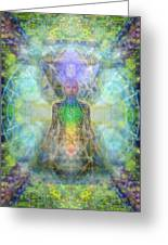 Chakra Tree Anatomy In Chalice Garden Greeting Card
