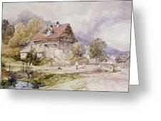 Chalet, Brunnen, Lake Lucerne Greeting Card