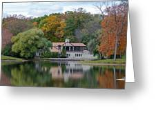 Chalet On The Lagoon Greeting Card