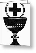Chalice And Cross Greeting Card