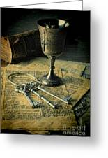 Chalice And Keys Greeting Card