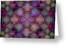 Chalice Cell Rings On Black Dk29 Greeting Card